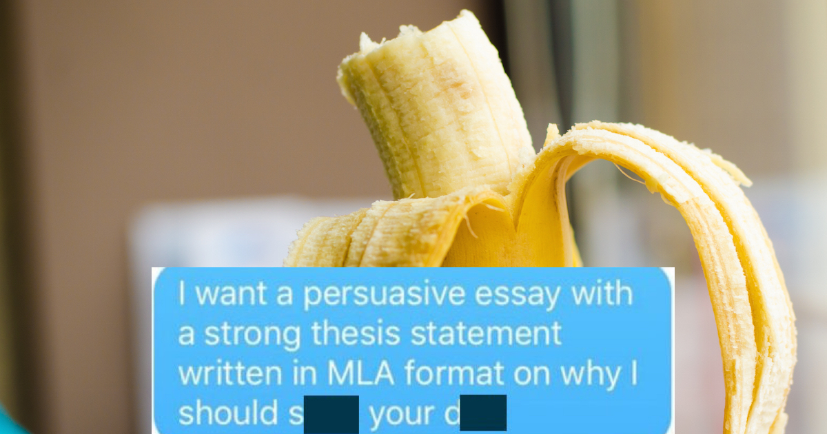 Woman Asks Boyfriend To Write Persuasive Essay On Why She Should  Woman Asks Boyfriend To Write Persuasive Essay On Why She Should Give Him  Oral Sex He Nails It  Someecards Sex