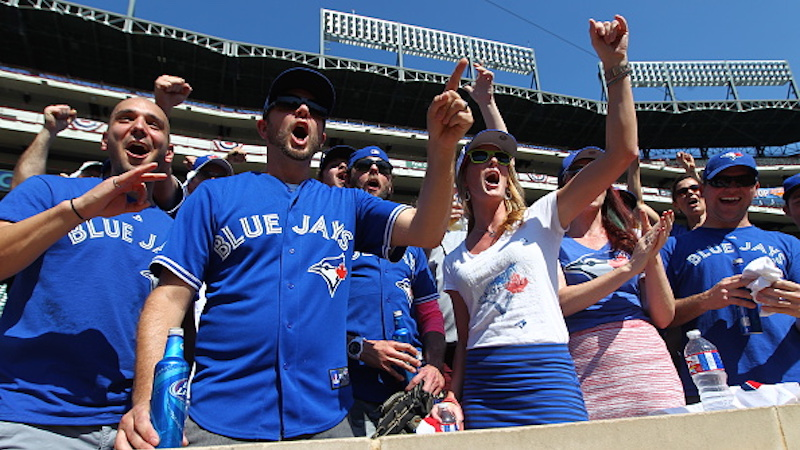 Overexcited Blue Jays fan mishears reporter, goes nuts over free tickets that don't exist.
