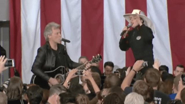 Bon Jovi and Lady Gaga are livin' on a prayer that Hillary Clinton will win. But you should still vote.
