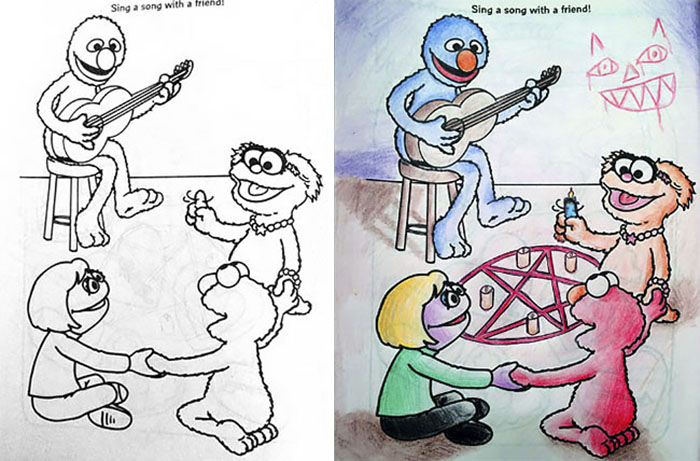 15 Adults Who Turned Coloring Books Into Nsfw Masterpieces