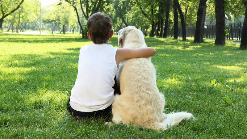 The reunion between this cute little boy and his dog is as emotional as a Pixar movie.