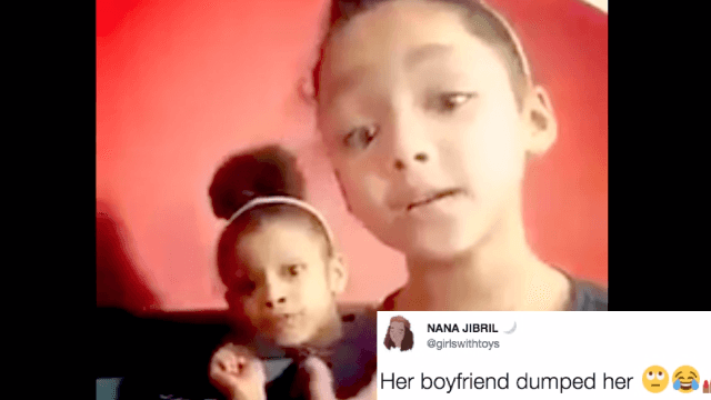 Awesome little girl has savage response to boyfriend who tried to win her back after dumping her.