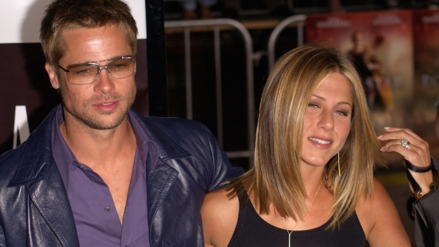Brad Pitt joked about his dating life at the Golden Globes and now Jennifer Aniston's reaction is a meme.