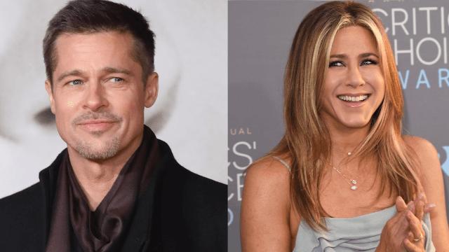 Brad Pitt texted Jennifer Aniston about his divorce.