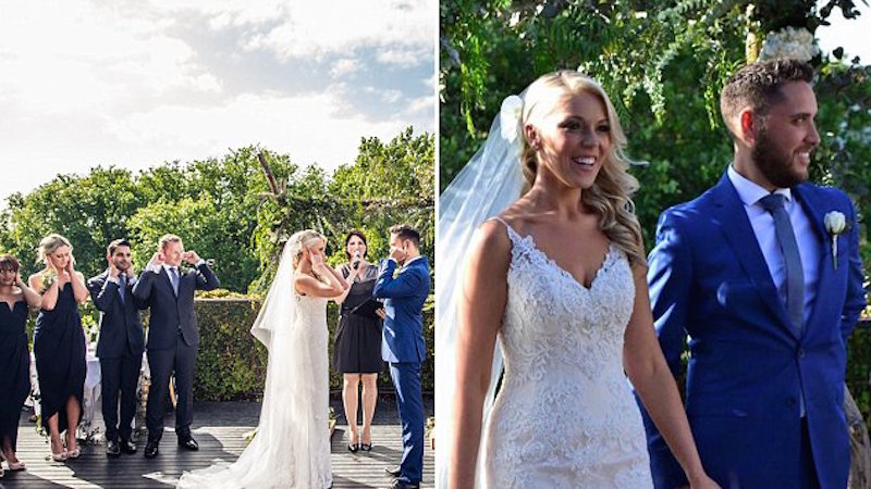Bride asks everyone to cover their ears during her marriage vows for a great reason.