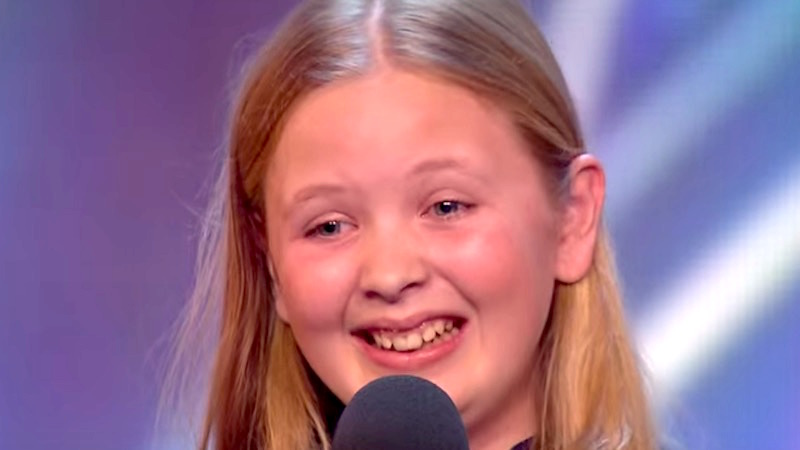 Nervous 12-year-old worries TV judges with difficult song choice. Then she starts singing.