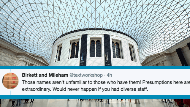 The British Museum announced that Asian names are confusing to teenagers. Twitter schooled them.