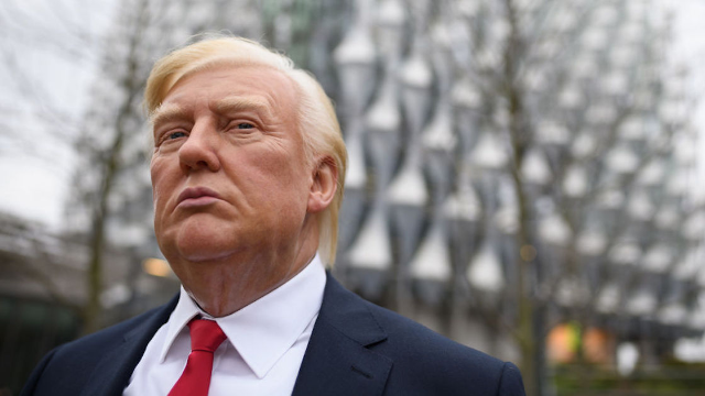 Outdoor wax figures, and other hilarious ways London is trolling Trump for canceling his visit.