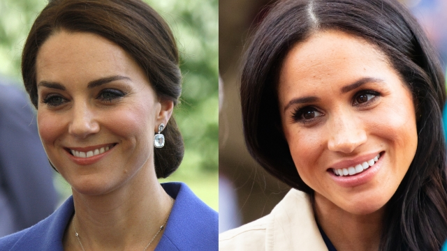 Fans share examples of press covering Meghan Markle and Kate Middleton differently.