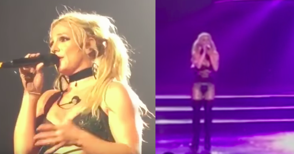 Britney Spears, of all people, just slammed the media with an incredible live song.