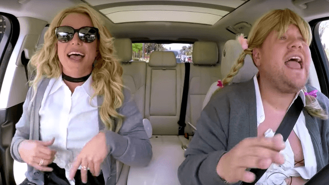 Britney Spears slayed all her hits with James Corden on Carpool Karaoke.