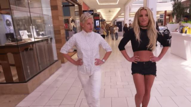Britney Spears & Ellen DeGeneres hit the mall.