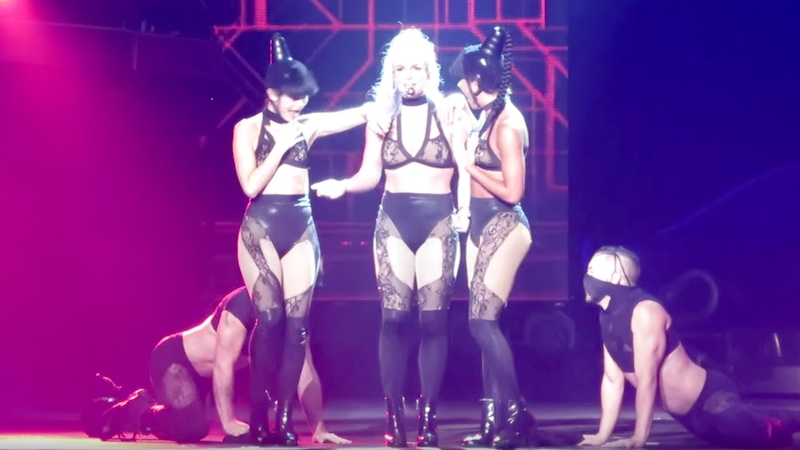 Single Britney Spears has a message for men at her live shows: 'Suck my f***ing %&#.'