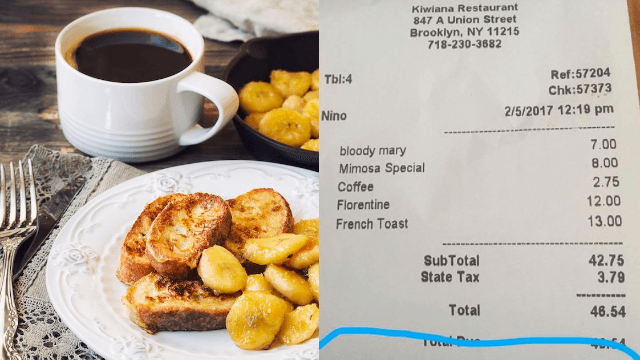 Restaurant cleverly trolls Trump's anti-immigration policy with message on receipts.