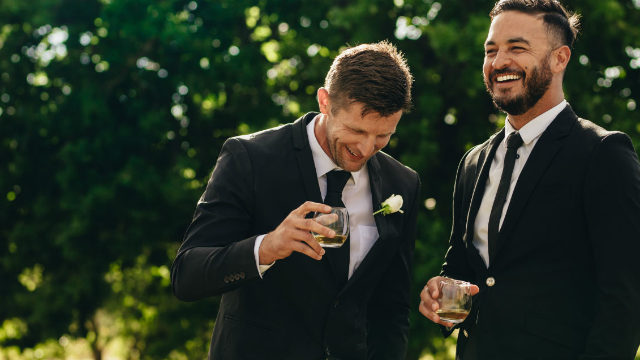Guy goes WAY above and beyond to help his brother-in-law get over wedding day jitters.