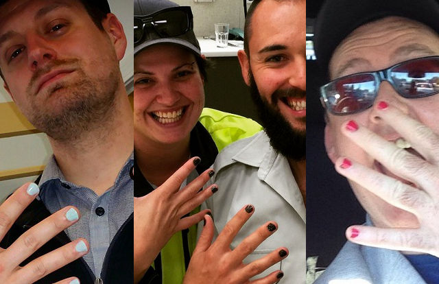 Men of Instagram are showing support for Bruce Jenner with #PaintYourNailsForBruce.