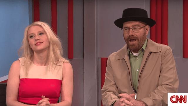 Bryan Cranston resurrects Walter White as Trump's next unusual appointee in 'SNL' opener.