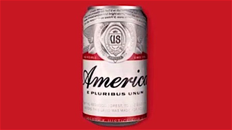 Budweiser is borrowing America's name to make you feel even more patriotic drinking beer.