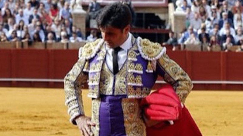 A bullfighter held his five-month-old baby while bullfighting. People didn't like that.