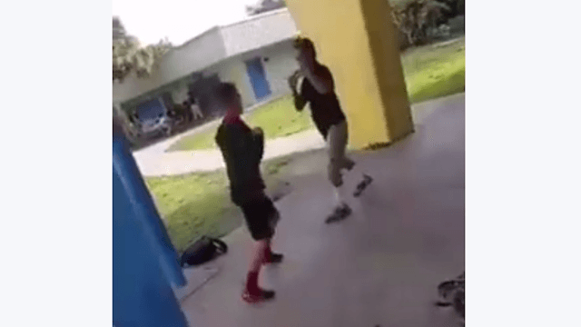 A bully picked a fight with a smaller kid who does MMA. Guess how that went.