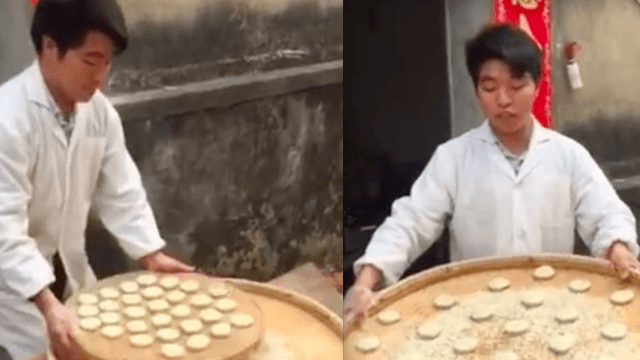 The Internet loves this guy's perfect buns that defy the laws of physics.