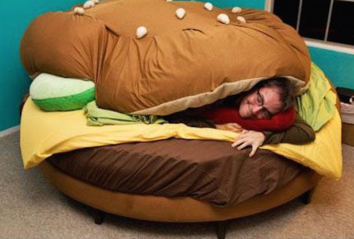 Sleeping under a bun? Yeah I'm lovin it!