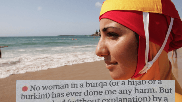 Man goes viral by perfectly explaining why the burkini ban makes no sense.