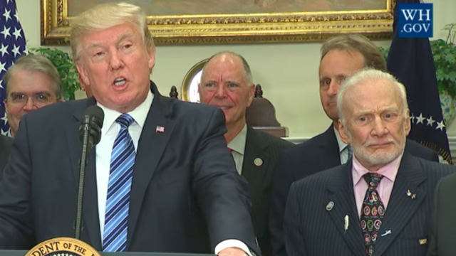 Buzz Aldrin's 'Toy Story' joke was apparently a little too sophisticated for President Trump.