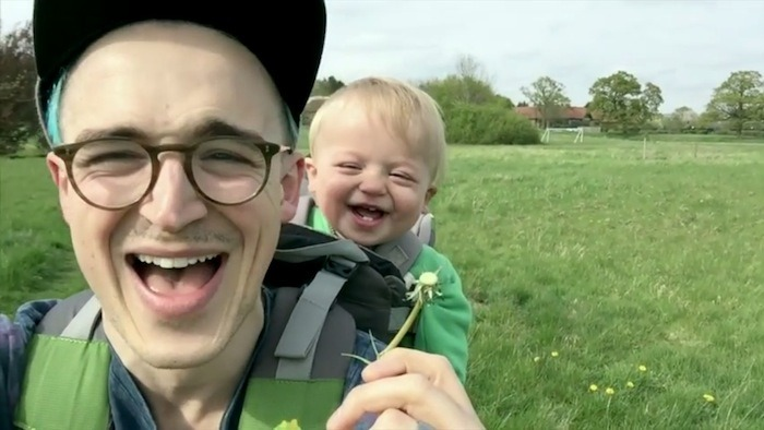 Please watch this baby's adorable reaction to a dandelion.