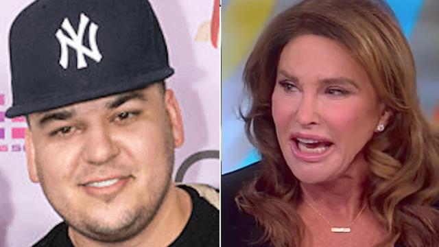 Caitlyn Jenner slams 'stupid' Rob Kardashian for posting Blac Chyna's nudes.