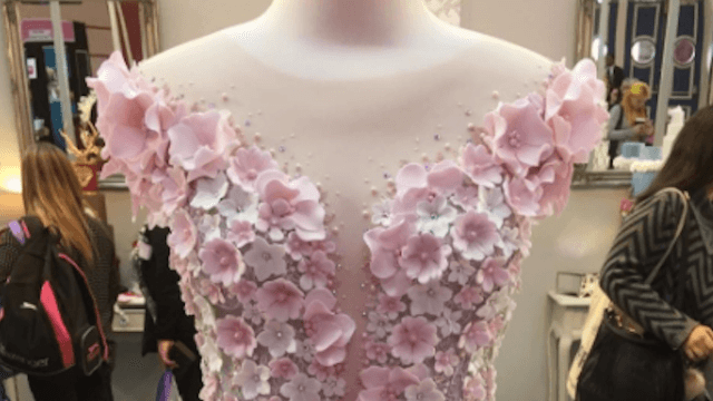 This wedding dress looks good enough to eat because it is.