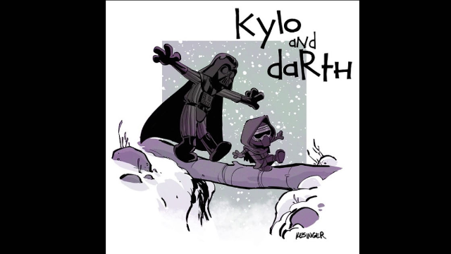 Childhoods collide as artist combines 'Calvin & Hobbes' and 'Star Wars: The Force Awakens.'