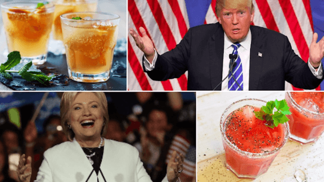 Candidate-inspired cocktails to get you drunk no matter who wins the election.