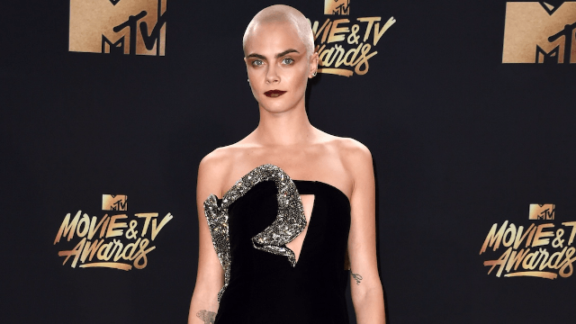 Cara Delevingne debuted a new 'tattoo' in a very unexpected place.