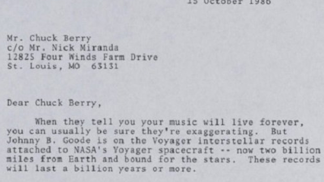 Carl Sagan's touching letter to Chuck Berry has everybody sobbing.