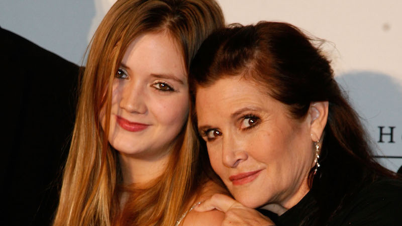 Carrie Fisher's daughter Billie Lourd will dress in tribute to Princess Leia in 'The Force Awakens.'