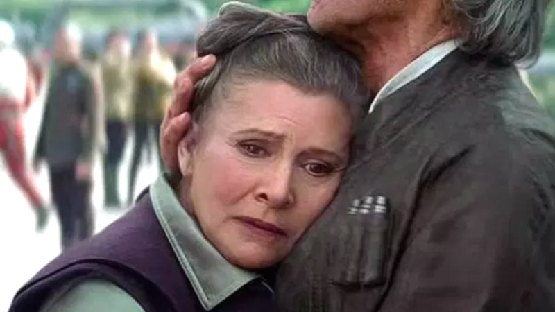 Carrie Fisher was enraged by what she had to do to be cast in the new 'Star Wars' film.