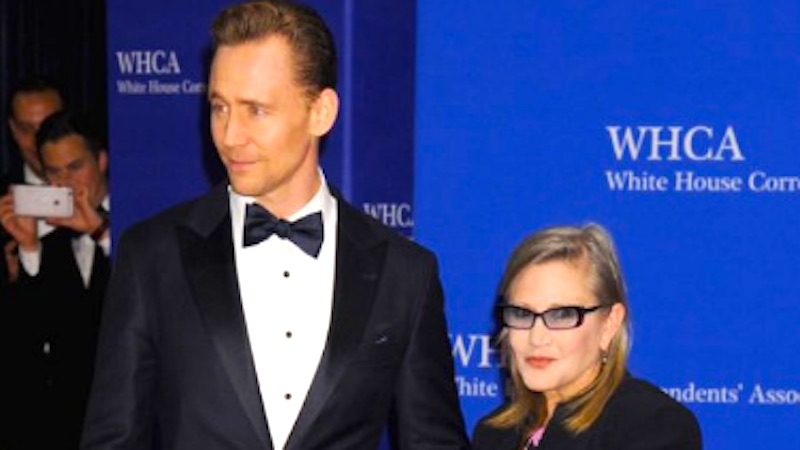 Carrie Fisher's dog upstaged Tom Hiddleston at the White House Correspondents' Dinner.