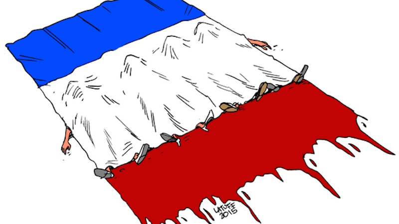 Cartoonists around the world address the Paris tragedy with powerful images.