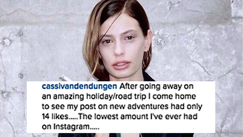This Instagram model lashed out at her followers over 'likes.' It didn't go well for her.