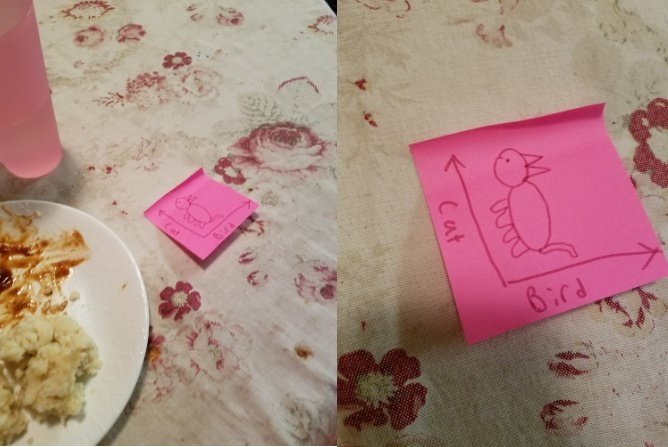 This girl's brother passed her a note at dinner that, once you see it, you can never unsee it.