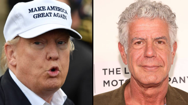Celeb chef Anthony Bourdain said he would poison President Trump. Then he took it back, kind of.