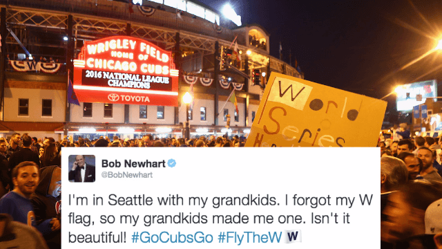 17 famous Chicago Cubs fans who are Flying the W on social media.