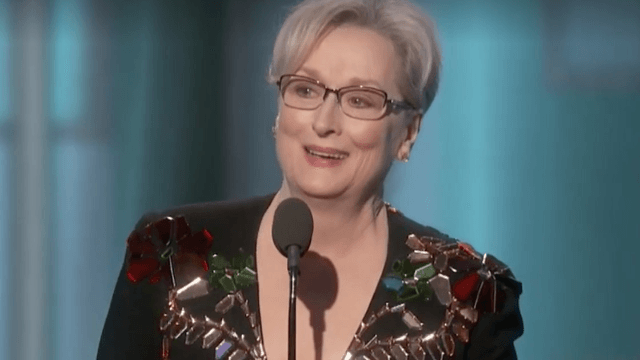 Here's every variation of 'OMG YES' from celebrities reacting to Meryl Streep's Golden Globes speech on Twitter.
