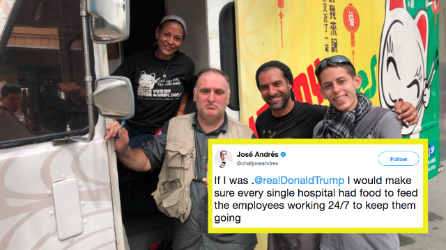 Celebrity chef tells Trump how to help Puerto Rico. Twitter has a new president.