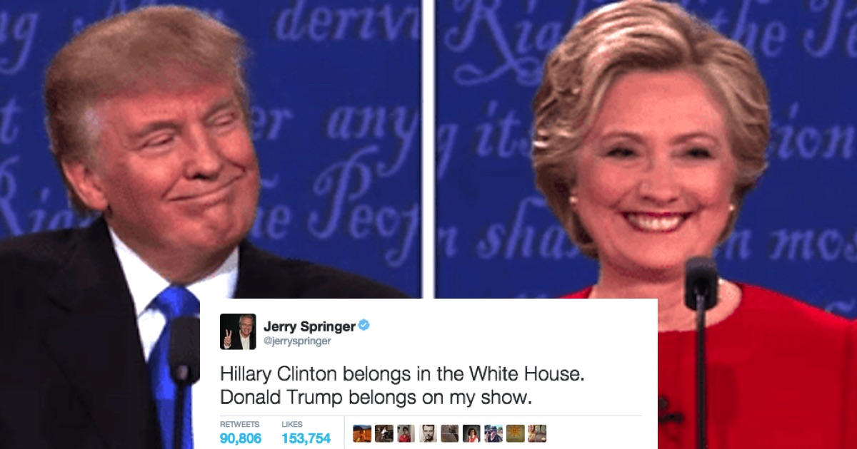 Heres What  Celebrities Were Tweeting During Last Nights Reality Show Of A Debate Someecards Celebrities