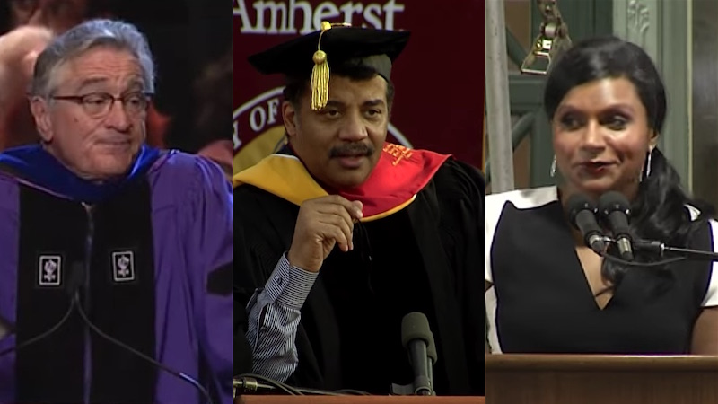The 18 best celebrity graduation speeches ever given to kids who weren't paying attention.