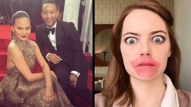 The 30 best celeb Instagrams from the 2017 Golden Globes.