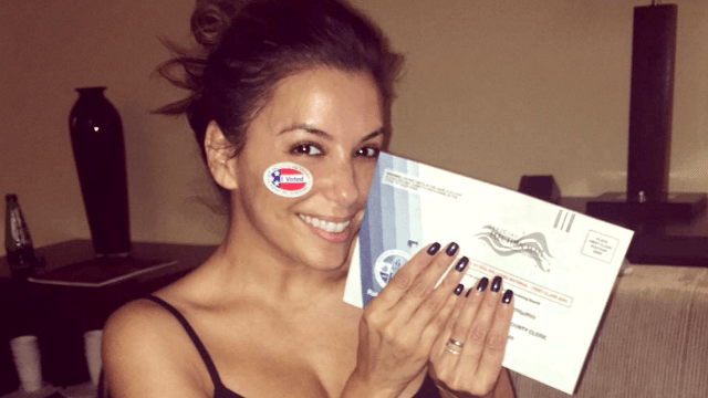 14 celebrities who voted early because they're better than us.