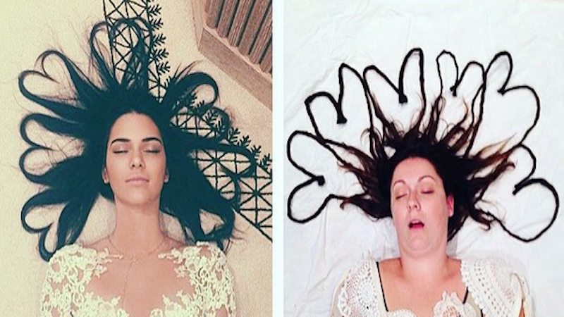 Comedian recreates celebrity Instagrams the way they'd look with a real person in them.